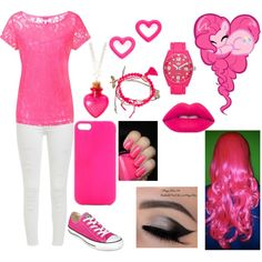 """""""Human Pinky Pie"""" by eyelessjack229 on Polyvore"""