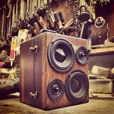 50 Watt BoomCase BoomBox - Wood Tool Box | The BoomCase Store