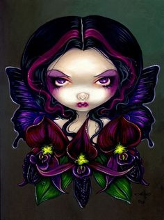 """""""Black Orchid Fairy"""" by Jasmine Becket-Griffith"""