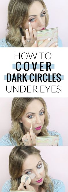 How to cover dark circles under eyes - with tips on color correcting, highlighting concealer, and baking! How to cover dark circles under eyes - with tips on color correcting, highlighting concealer, and baking! Dark Circles Makeup, Eye Circles, Concealer For Dark Circles, Contouring, Covering Dark Circles, Cover Up Dark Circles Under Eyes, Color Correct Dark Circles, Beauty Makeup, Beauty
