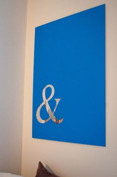 Cool idea for a wedding gift. Put the couples initials with the &