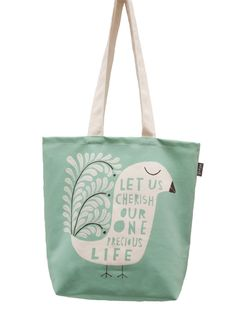 Our One Precious Life - Canvas Shopping Tote