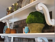 kitchen decor and shelving....