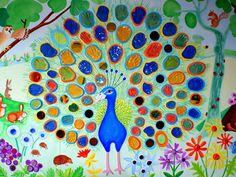 New garden art wall projects ideas Murals For Kids, Art Wall Kids, Art For Kids, Art Auction Projects, School Art Projects, Garden Mural, Garden Art, Glass Garden, Chinese Crafts