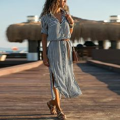 Lapel Elegant Stripes Short Sleeve Enjoy Linen Dresses summer Free Shipping $59+ & Easy Return. Up to 80% Off. First Order   5% Off Code:EB5F Casual Dresses for women casual dresses for summer casual dresses modest casual dresses boho casual dresses for work #CasualDresses #CasualDresses #casualdressesforsummer #casualdressesforschool   #casualdressesforteens #businesscasualdresses #casualdressesforwork #cutecasualdresses   #casualdressesoutfit #casualdresseskneelength