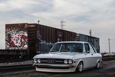 Slammed Audi 100 LS looks good