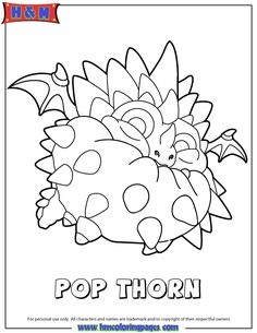 Skylanders Swap Force Air Pop Thorn Coloring Page