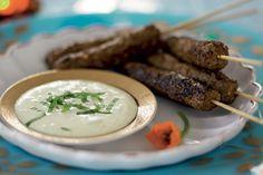 Kebabspett av bland- eller lammfärs och Garam Masala