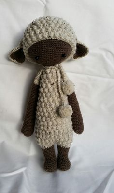 LUPO the lamb made by Kerstin K. / crochet pattern by lalylala