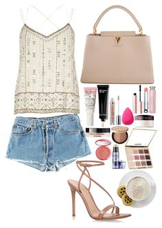 """Sin título #775"" by hpf1102 ❤ liked on Polyvore featuring Levi's, Louis Vuitton, River Island, Bobbi Brown Cosmetics, Power of Makeup, beautyblender, Urban Decay, Laura Mercier, Chanel and Too Faced Cosmetics"