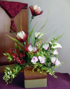 Handmade Nylon Flower Arrangement by LiYunFlora on Etsy, $35.00