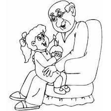 Image Result For Grandfather And Granddaughter Sketch Birthday Coloring Pages Grandpa Birthday Coloring Pages