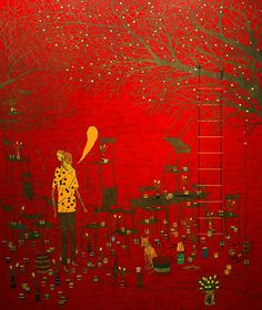 Old Man Speaking Stephen Chambers is a pixie. Oil