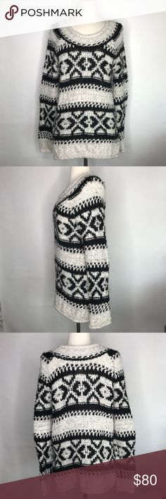 """Free People Silver Reed Fair Isle Sweater Excellent used condition! Only worn a few times. Super soft and warm sweater. Bust measurement 20"""" laying flat; length measurement 23"""" Free People Sweaters Crew & Scoop Necks"""