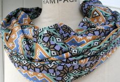 FREE SHIPPING Infinity Scarf Tribal Scarf  Summer Trends by PIYOYO, $18.95