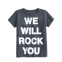 Kids' Bravado™ rock tee for crewcuts in We Will Rock You - tees & polos - Boy's new arrivals - J.Crew