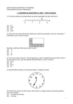 Avaliação Sólidos Geométricos 5 Ano. | Atividades de Matemática
