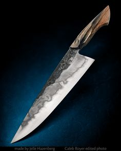 Handmade Chef Knife, Knife Party, Custom Knives, Knives And Swords, Knife Making, Blacksmithing, Kitchen Knives, Weapons, Blade