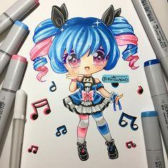 ✿Cute Anime Chibi Drawings  I Feels Dah Beats✿
