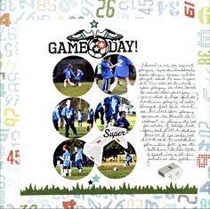 Single page ~  CM Its Game Day; circles