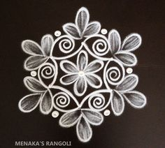 Rangoli Side Designs, Rangoli Designs Latest, Simple Rangoli Designs Images, Free Hand Rangoli Design, Small Rangoli Design, Rangoli Patterns, Rangoli Designs Diwali, Rangoli Designs With Dots, Simple Flower Rangoli