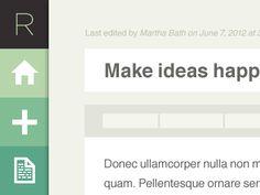 Dribbble - Web app by Regina Casaleggio