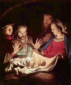 Madonna & Child - Dutch painter Gerrit van Honthorst 1590–1656