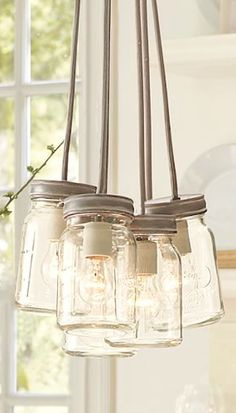 cool mason jar chandelier