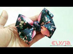 Shabby Ribbon Bow Kansazhi Hair Clip   DIY by Elysia Handmade - YouTube