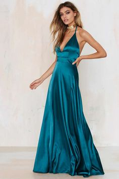 Twin Sister Grand Entrance Satin Maxi Dress | Shop Clothes at Nasty Gal!