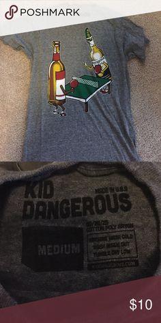 Men's T-Shirt Medium. Graphic tshirt. Amazing condition only wore a few times. Size medium Kid Dangerous Shirts Tees - Short Sleeve