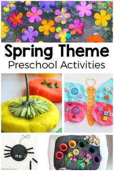 Spring theme preschool activities. From flowers to bugs to plants and more! These spring activities are sure to be a hit with your kids.