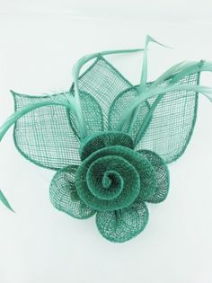 Green Fascinators | Emerald Green Clip Fascinators - Prettycool.co.uk