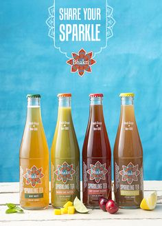 Bhakti Sparkling Tea is here! Available in Mint Mate, Mango Lime Mate, Tart Cherry Rooibos and Lemon Ginger Fizz. What makes you shine? Share your sparkle with Bhakti!
