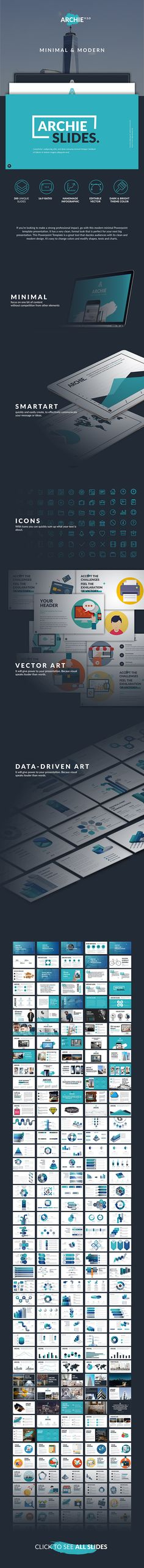 Archie Creative Google Slide  #powerpoint #pptx #presentation • Available here → http://graphicriver.net/item/archie-creative-google-slide/15870565?ref=pxcr