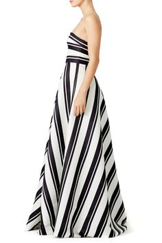462912f76535 Barber Stripe Gown by Halston Heritage on rent the runway. Bridesmaid  option?