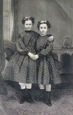 The Sisters 1896 engraving by The Illman Brothers for Lady's Friend magazine.