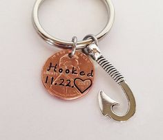 Anniversary Gift for Men Penny Keychain Gift by SincereImpressions