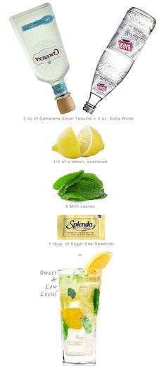 Low Cal Drinks - @Anna Totten Totten Bailey & @Bethany Shoda Shoda Harbour :: we need to try this at the next family dinner!