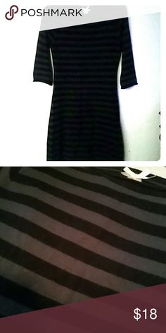 54e473e0f053b Shop Women s Derek Heart Black Gray size L Long Sleeve at a discounted  price at Poshmark. Description  Black   gray striped sweater dress or shirt.