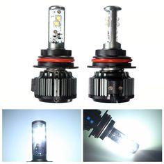 Pair 9007 80W 8000LM 6000K LED Xenon White High Low Beam Light Bulbs Car Headlight