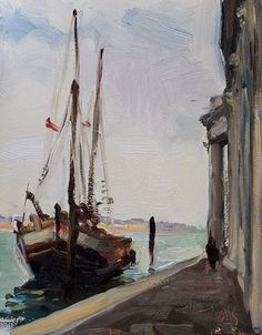 Giorgio Painting   Mooring at San Giorgio Maggiore a daily painting by Julian Merrow ...