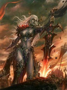 Dark Fantasy Art, Fantasy Girl, Fantasy Artwork, Fantasy Art Women, Fantasy Kunst, Fantasy Warrior, Elf Warrior, Warrior Angel, Woman Warrior