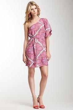 Alice & Trixie Adriana Silk One Sleeve Dress