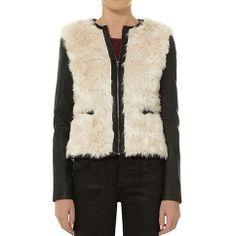 Stylish Leisure Contrast Color Flocky Spliced Jacket Coat