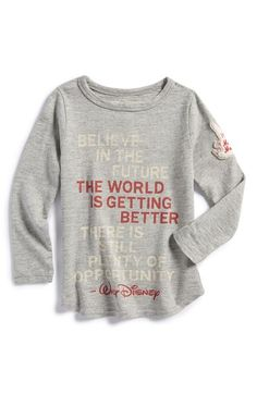 Peek 'Disney - Believe in the Future' Tee (Baby Girls) | Nordstrom (For Caroline)