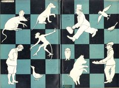 Endpapers from Doctor Dolittle's Return, by Hugh Lofting