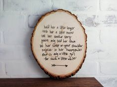 Adorable poem about a little girl written on a rustic wood round log sign. This is perfect decor for baby girl woodland nursery theme! It would also make a great baby shower gift or Mothers Day present. The little girl poem is hand printed on the wood log sign and there is an arrow at the bottom. #nursery #girlnursery #walldecor Woodland Nursery Girl, Baby Girl Nursery Themes, Rustic Nursery, Rustic Baby, Woodland Baby, Rustic Wood, Nursery Ideas, Little Girl Poems, Baby Girl Poems