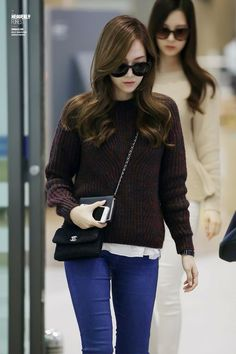 Jessica at Suvarnabhumi Airport Back to Korea Snsd Fashion, Girl Fashion, Fashion Outfits, Womens Fashion, Korean Airport Fashion, Korean Fashion, Jessica Jung Fashion, Airport Style, Suvarnabhumi Airport