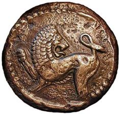 Lion on a Greek coin